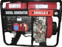 WM5000CLE диз/генератор 5,0 Квт 1 и 3 ФАЗЫ шумозащ. SILENT, вес 175кг.