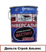 Мастика битумно-каучуковая Универсальная 20 кг .