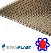 Сотовый поликарбонат titanplast 6мм. 2,1*6м бронза
