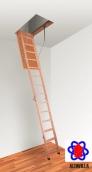 Люк на чердак с лестницей Altavilla Cold Long (120х80)