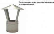 Грибок на дымоход ( с нержавеющей стали)