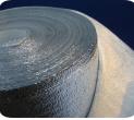 ПОЛОТНО ФОЛЬГИРОВАННОЕ 2 мм из вспененного полиэтилена фольгированное с липким слоем