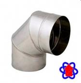 Колено для дымохода 90° из нержавеющей стали 0,5 мм (AISI 304)