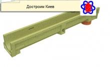 Лоток водоотводный полимербетонный с вертикальным водоотводом 10.14.06