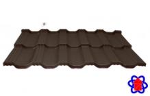 Металлочерепица Egeria 887 Poliester Mat Крупнозернистый шоколадный