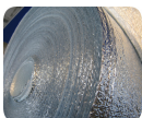 ПОЛОТНО ФОЛЬГИРОВАННОЕ 8 мм из вспененного полиэтилена фольгированное