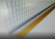 Оконный профиль примыкающий с манжетой и сеткой 2.5м