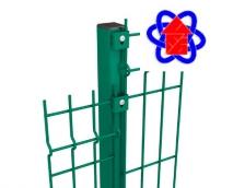 Столбы оцинкованные + ппл для ограждений 2,0 метра ДСА