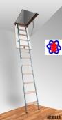 Лестница на чердак складная Altavilla Cold Met 4s (80х80)