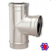 Тройник для дымохода 90° из нержавеющей стали 0,5 мм (AISI 304)