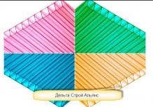 Сотовый поликарбонат 8 мм.цветной 2,1*6м