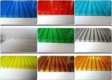 Сотовый поликарбонат 10 мм.цветной 2,1*6м