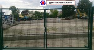Распашные металлические ворота 1,5*4,0м.