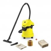 Пылесос сухой и влажной уборки WD 3 + фильтр-мешки (5 шт)